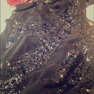 Black sequenced Moda Top size USA 10